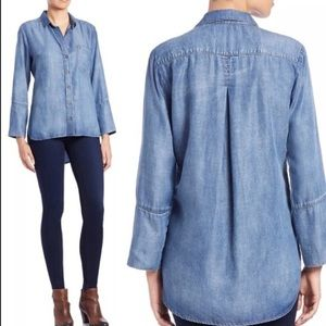 Cloth and Stone Chambray Button Front Top
